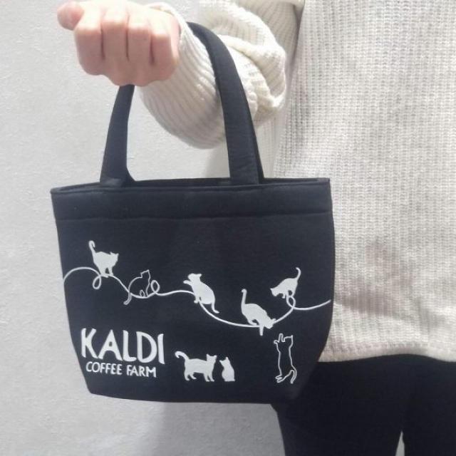 KALDI(カルディ)の未使用 カルディ  ネコの日バック2019 おまけカレンダー レディースのバッグ(トートバッグ)の商品写真