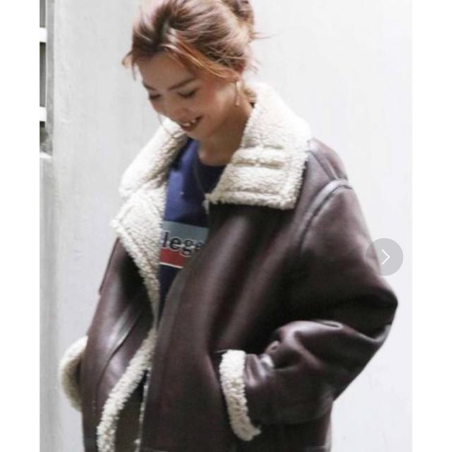Ungrid(アングリッド)のフェイクムートンボリュームブルゾン レディースのジャケット/アウター(ブルゾン)の商品写真