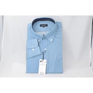 ブラックレーベルクレストブリッジ(BLACK LABEL CRESTBRIDGE)の☆新品未使用☆BLACK LABEL ブルー Yシャツ☆Lサイズ(シャツ)