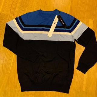 ユニフォームエクスペリメント(uniform experiment)の新品●uniform experiment●ネイビー・ニット・3(ニット/セーター)