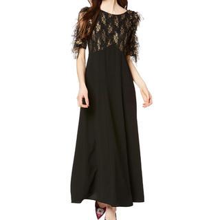 リリーブラウン(Lily Brown)のLily Brown(リリーブラウン) フリル袖切り替えドレス (ロングドレス)
