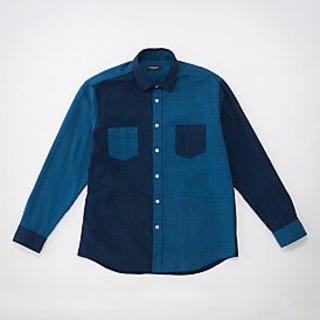 ブラックレーベルクレストブリッジ(BLACK LABEL CRESTBRIDGE)の☆新品☆BLACK LABEL グレンチェック シャツ ブルー☆Lサイズ(シャツ)