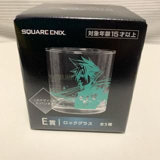 スクウェアエニックス(SQUARE ENIX)のFF7R くじ E賞 ロックグラス 2個 クラウド&FFロゴ(グラス/カップ)