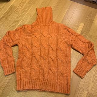 ユニフォームエクスペリメント(uniform experiment)の新品・タグなし●uniform experiment●セーター・オレンジ・3(ニット/セーター)