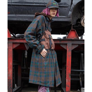 Jieda - 未開封品 PLAID TRENCH COAT