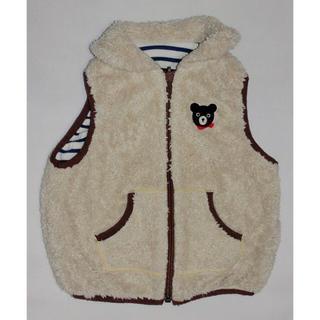 ミキハウス(mikihouse)のlily様専用  ベージュボアのベスト(ジャケット/上着)