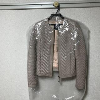 アルマーニ コレツィオーニ(ARMANI COLLEZIONI)のアルマーニ♡ ノーカラーレザージャケット(ノーカラージャケット)