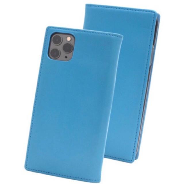 iPhone 11pro/max 羊本革手帳型ケース ライトブルーの通販 by iPhoneケース屋さん|ラクマ