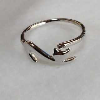 アウトレットスターリングシルバー猫リング(リング(指輪))