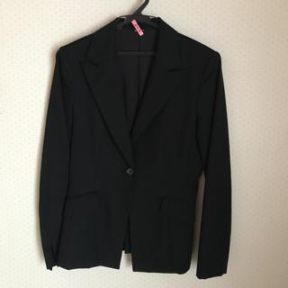 アールユー(RU)のr u アールユー ブラック スーツ 一つボタン ジャケット 袖折り返し(スーツ)