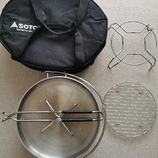 シンフジパートナー(新富士バーナー)のSOTO ステンレスダッチオーブン(12インチ)ST-912+3点セット  (調理器具)