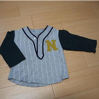 プティマイン(petit main)のpetit main ベースボールTシャツ 90㎝(Tシャツ/カットソー)