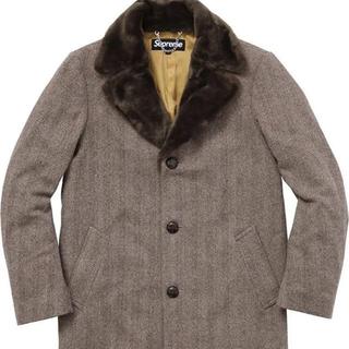 シュプリーム(Supreme)のSupreme Fur Collar Tweed Coat M(チェスターコート)