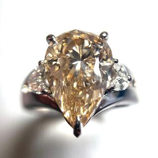 「天然ブラウンダイヤモンド」5.123ct プラチナリング!(リング(指輪))