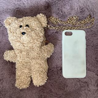 メリージェニー(merry jenny)のmerryjenny teddy くま iphoneケース(iPhoneケース)