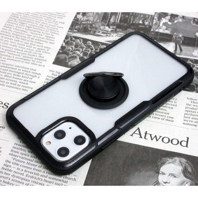 エルメス iPhone 11 ProMax ケース シリコン - 【ブラック】iPhone11 ProTPUクリアソフトケース バンカーリング付の通販 by まお's shop|ラクマ