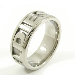 ディーゼル(DIESEL)のDIESEL ロゴリング 10(22号) 美品 付属品完備(リング(指輪))