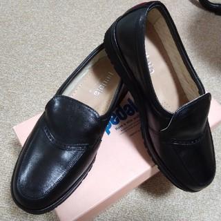 アシックス(asics)の皮靴 22.5 EE(ローファー/革靴)