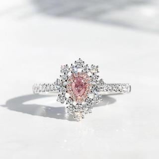新品キュートなファンシーライトピンクダイヤモンド指輪(リング(指輪))