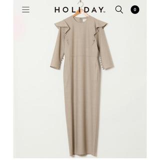 ホリデイ(holiday)のholiday wool ruffle dress(ロングワンピース/マキシワンピース)