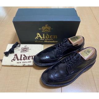 オールデン(Alden)の【使用1回】Alden コードバン ロングウイングチップ ブラック 6.5D(ドレス/ビジネス)
