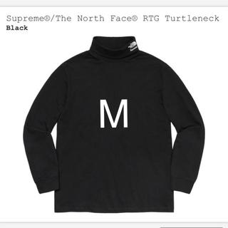 シュプリーム(Supreme)の新品 黒 M supreme the north face turtleneck(Tシャツ/カットソー(七分/長袖))