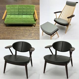 カリモク 柏木工 椅子 ガチャガチャ