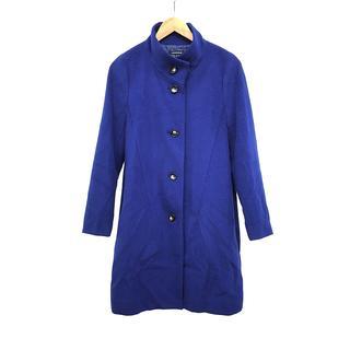 ロートレアモン(LAUTREAMONT)のレディース コート ロング アンゴラ ウール 青 ブルー 立襟 サイズ 40 L(ロングコート)