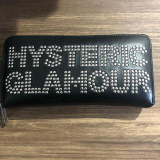 ヒステリックグラマー(HYSTERIC GLAMOUR)のHYSTERIC GLAMOUR ロゴ スタッズ ロングウォレット 財布(長財布)