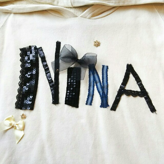 Nina mew(ニーナミュウ)のnine mewスウェットパーカーフーディープルオーバーレディース送料無料 レディースのトップス(パーカー)の商品写真