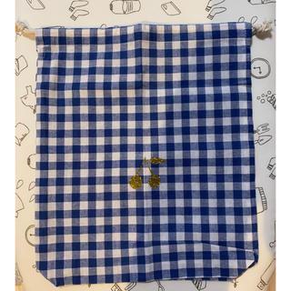 ボンポワン(Bonpoint)のボンポワン風 巾着 ポーチ ギンガムチェック チェリー ハンドメイド(ポーチ)