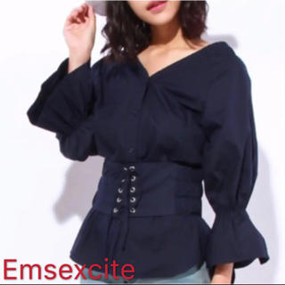 エムズエキサイト(EMSEXCITE)のEmsexcite エムズエキサイトべルト付きブランス(シャツ/ブラウス(長袖/七分))