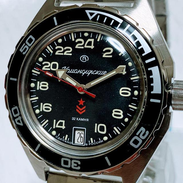 ◆激レアダイアル◆Vostok 腕時計 ロシアミリタリー自動巻き ブラックの通販