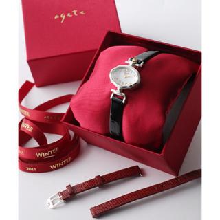 アガット(agete)のagete アガット 2011年 クリスマス限定 腕時計(腕時計)