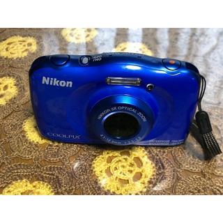 ニコン(Nikon)のNikon デジタルカメラ COOLPIX W100 防水  ブルー(コンパクトデジタルカメラ)