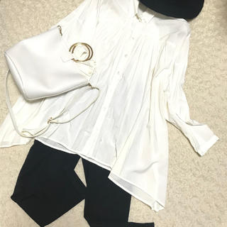 TEE-UP オーバーサイズ白シャツ(シャツ/ブラウス(長袖/七分))