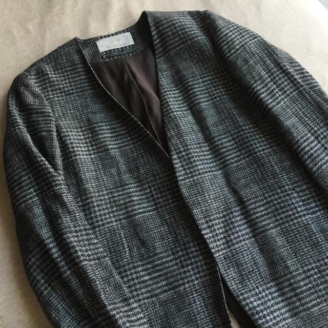 Plage(プラージュ)のplage グレンチェックジャケット レディースのジャケット/アウター(ノーカラージャケット)の商品写真