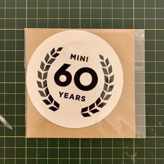 MINI ミニ ステッカー 60周年 非売品 新品 未使用(車外アクセサリ)
