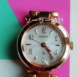 オリエント(ORIENT)の12. ORIENT オリエント ソーラー時計 美品 レディース(腕時計)