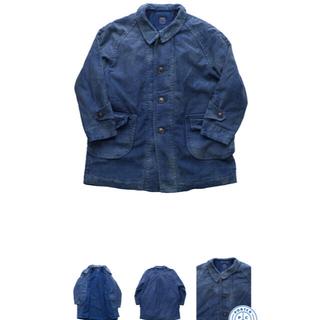 ポーター(PORTER)のporterclassic moleskin coat blue(ステンカラーコート)