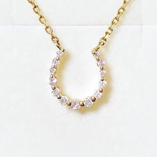 アガット(agete)のagete  アガット ホースシュー ダイヤモンド ネックレス K10(ネックレス)