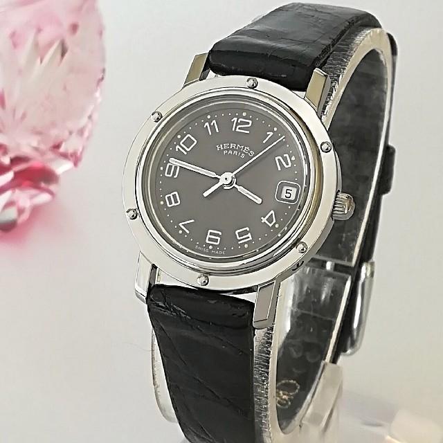 ロレックス 時計 コピー 通販 - Hermes - 綺麗 エルメス クリッパー3針 クロコ レディースウォッチ 時計 入学式 極美品の通販
