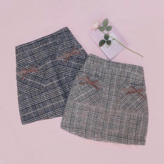 ハニーシナモン(Honey Cinnamon)のチェックリボンスカート♡(ミニスカート)
