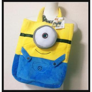 ミニオン(ミニオン)の[タグ付き未使用]ミニオンズボアふわふわ軽量トートバッグ黄色青色 キャラクター(キャラクターグッズ)