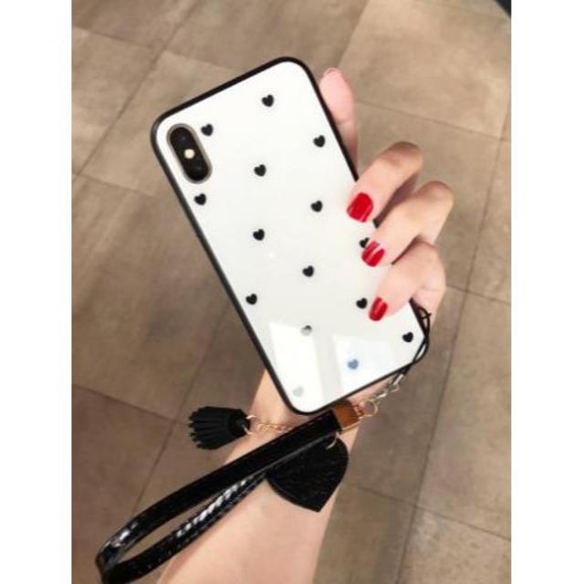 〇新品 iPhone11 Pro 5.8 ハート かわいい ケース (白)の通販 by akane☆27|ラクマ