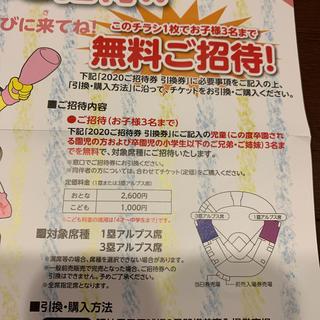 ハンシンタイガース(阪神タイガース)の阪神タイガース 招待券 引換券 甲子園(野球)