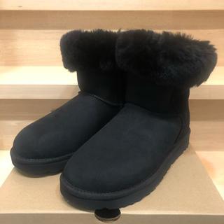 アグ(UGG)のUGG ムートンブーツ 新品 ブラック 24cm(ブーツ)