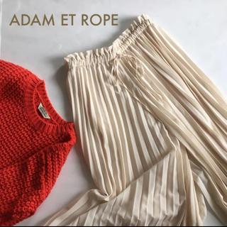 アダムエロぺ(Adam et Rope')の美品 アダムエロペ プリーツ パンツ ガウチョ プリーチョ 38(カジュアルパンツ)