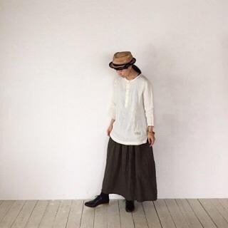 ネストローブ(nest Robe)のcheer チアー 札幌 シンプルブラウス simple リネンブラウス(シャツ/ブラウス(長袖/七分))