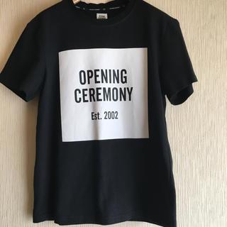 オープニングセレモニー(OPENING CEREMONY)のオープニングセレモニー ロゴT ショッパー付き(Tシャツ/カットソー(半袖/袖なし))